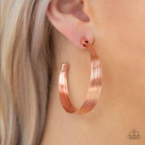Live Wire Copper Earrings
